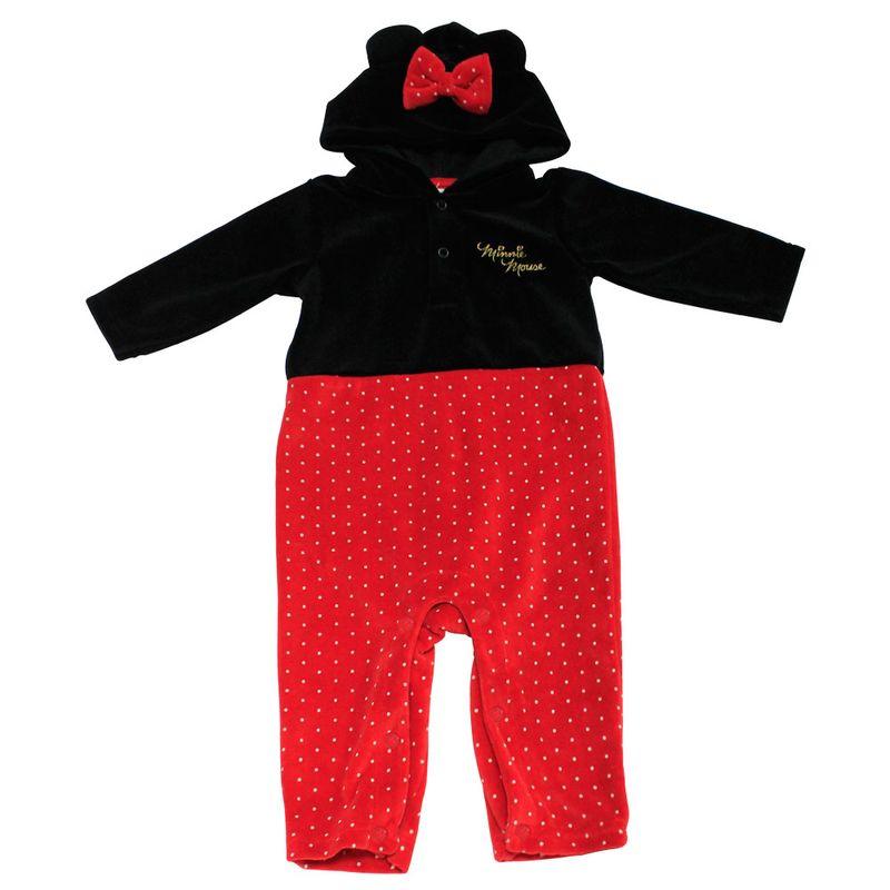 Macacão sem Pé em Plush - Minnie - Preto e Vermelho - Disney - PBKIDS 1694a77f11a