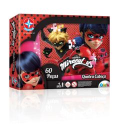 Quebra-Cabecas---Miraculous---Ladybug---60-Pecas---Estrela