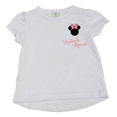 Blusa-Manga-Curta-em-Meia-Malha---Minnie---Branco-e-Rosa---Disney---P