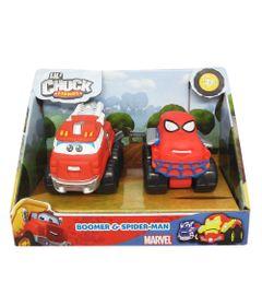 Mini-Veiculos---Chuck-Friends---Pack-com-2-Veiculos---Classics-e-Marvel---Boomer-e-Spider-Man---Tomy