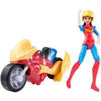 Figura-Articulada-com-Veiculo---DC-Super-Hero-Girls---Mulher-Maravilha---Mattel