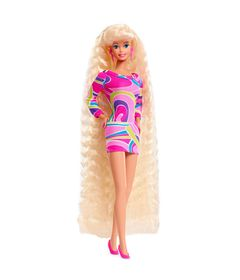 Boneca-Colecionavel---30-Cm---Barbie-Edicao-de-Aniversario---25-Anos---Barbie-Totally-Hair---Mattel