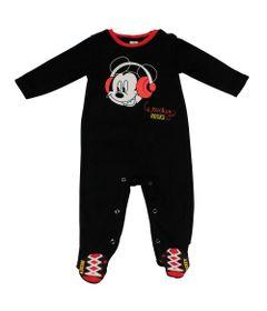 Macacao-Manga-Longa-com-Pe---Mickey---Preto-e-Vermelho---Disney---P
