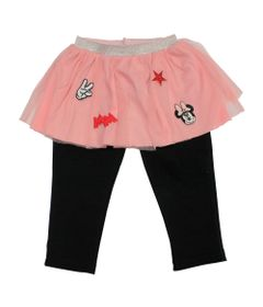 Calca-Legging-com-Saia-Tule---Minnie---Rosa-Preto-e-Vermelho---Disney---1