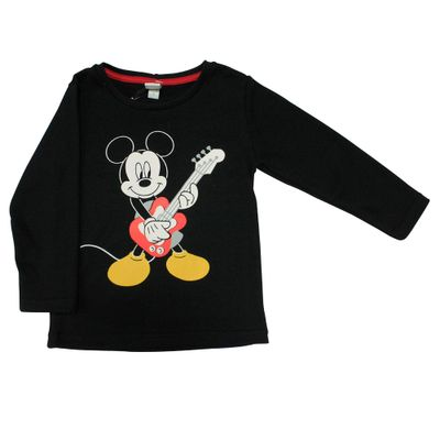 Camiseta-Manga-Longa-em-Meia-Malha---Mickey---Preto---Disney---1