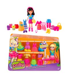 Kit-com-2-Bonecas-Polly-Pocket-com-Roupinhas---Polly-e-Crissy---Mattel