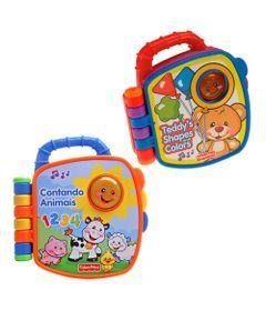Kit-com-2-Livrinhos-Aprender-e-Brincar---Cores-e-Formas-e-Contando-com-Animais---Fisher-Price