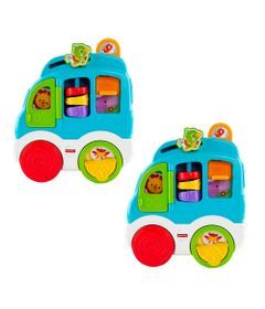 Kit-com-2-Novos-Sons-Divertidos---Carro-dos-Animais---Fisher-Price