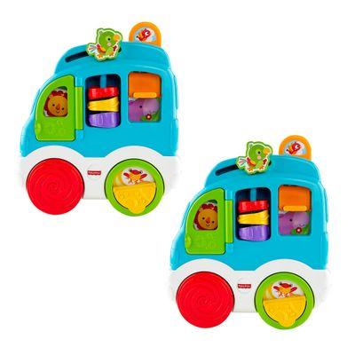 Kit-com-2-Novos-Sons-Divertidos---Carro-dos-Animais---Fisher-Price