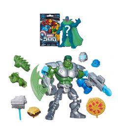 Bonecos-Super-Heroes-Mashers---Disney-Marvel---Hulk-e-A-Bomb-com-Boneco-Surpresa-Serie-4---Hasbro