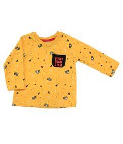 Camiseta-Manga-Longa-em-Suedine---Mickey---Amarelo-Preto-e-Vermelho---Disney---1