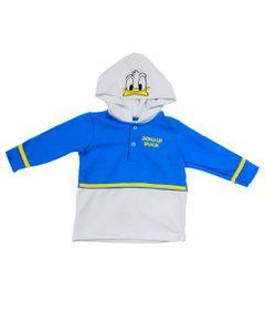 Casaco-de-Moletom---Pato-Donald---Azul-Branco-e-Amarelo---Disney---P