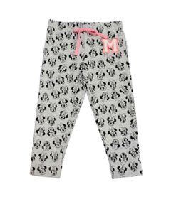Calca-Legging-em-Cotton---Minnie---Cinza-Mescla-Claro-Preto-e-Rosa---Disney---1