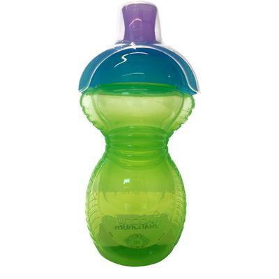 Copo-Grande-com-Tampa-Click-Lock---Verde-e-Azul---Munchkin