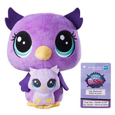 Pelucia-Littlest-Pet-Shop---Mamae-e-Filho---Lilac-Nocturna-and-Owlette-Nocturna---Hasbro