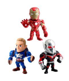 Kit-3-Figuras-Colecionaveis-15-Cm---Metals---Disney---Marvel---Civil-War-com-Homem-Formiga---DTC