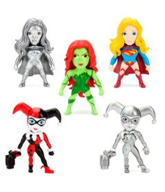 Kit-5-Figuras-Colecionaveis-6-Cm---Metals---DC-Comics---Super-Hero-Girls---DTC