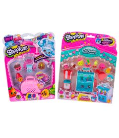 Kit-Mini-Figuras-Shopkins---Feira-Gastronomica-e-Blister-com-5-Shopkins-Sortidos---DTC