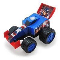 Carro-Formula-1-de-Roda-Livre---Avengers---Capitao-America---Marvel---Toyng