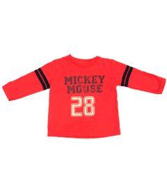 Camiseta-Manga-Longa-em-Meia-Malha-Flame---Mickey---Vermelho-e-Marinho---Disney