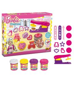 Conjunto-de-Massas-de-Modelar---Barbie---Cookies-Coloridos---Fun