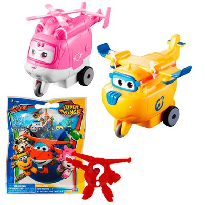 Kit-de-Figuras---Super-Wings---Vrom-N-Zoom---Dizzy---Donnie-e-Mini-Figura-Surpresa---Fun