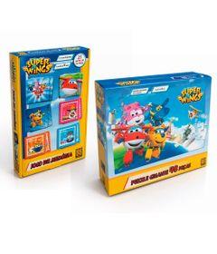 Kit-de-Jogos---Super-Wings---Jogo-da-Memoria-e-Quebra-Cabeca---48-Pecas---Gigante---Grow