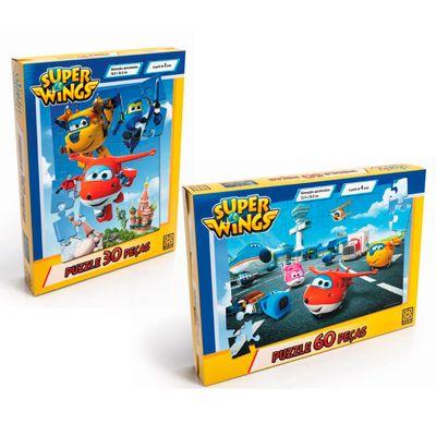 Kit-de-Jogos---Super-Wings---Quebra-Cabecas---60-e-30-Pecas---Grow
