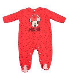 Macacao-Manga-Longa-com-Pe-em-Suedine---Minnie---Vermelho-Rosa-e-Preto---Disney---P