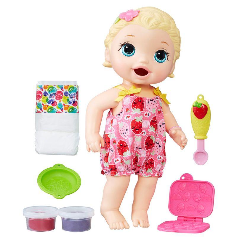 ff40d569cb Boneca Baby Alive - Loira - Lanchinho - C2697 - Hasbro - Saraiva