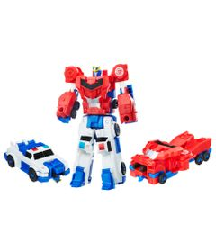 Conjunto-Transformers---Robots-In-Disguise---Combiner-Force---Strongarm-e-Optimus-Prime---Hasbro