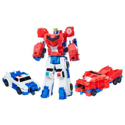 Conjunto-Transformers---Robots-In-Disguise---Combiner-Force---Strongarm-e-Optimus-Prime---Hasbro