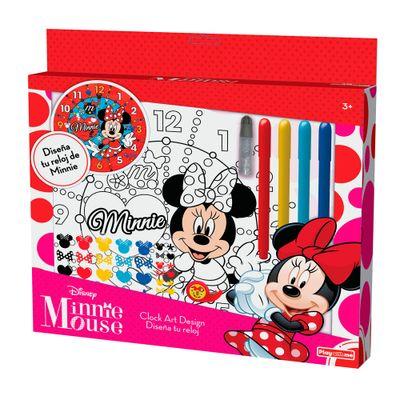 Conjunto-de-Artes---Relogio-para-Colorir---Disney---Minnie-Mouse---New-Toys