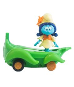 Veiculo-com-Mini-Figura---Smurfs---Smurflily-e-Leafboard---Sunny