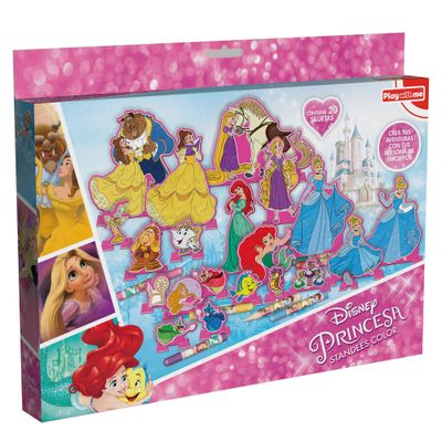 Conjunto-de-Artes---Personagens-Para-Colorir---Disney---Princesas---New-Toys
