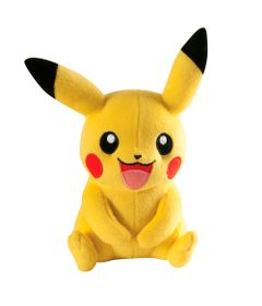 Pelucia-Pokemon-Media---16-Cm---Pikachu-Sentado---Tomy