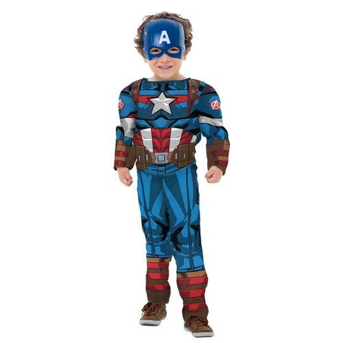 Fantasia Clássica Luxo - Capitão América - Avengers - Marvel - Regina Festas - P