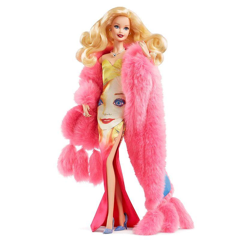 dd7a63814f Boneca Barbie Colecionável - Andy Warhol - Vestido Estampado ...