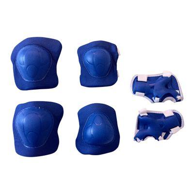 Kit-de-Protecao---3-Pecas---Azul---Uni-Toys