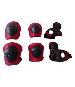 Kit-de-Protecao---3-Pecas---Vermelho---Uni-Toys