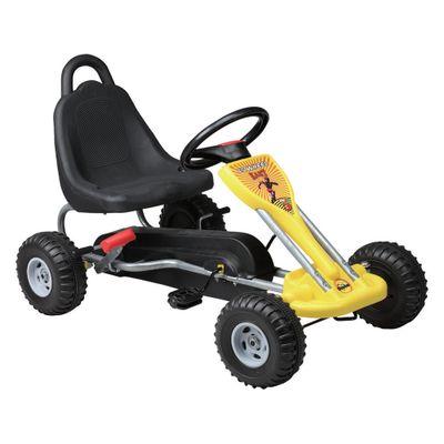 Mini-Kart-com-Pedal---Amarelo---Uni-Toys