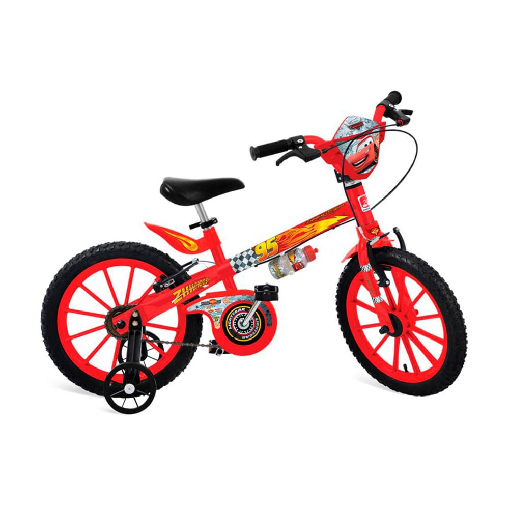 Bicicleta ARO 16 - Disney - Cars - Bandeirante
