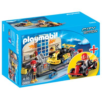 Playmobil---City-Action---Oficina-com-Carro-de-Corrida---6869---Sunny