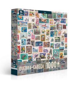 Quebra-Cabeca---1000-Pecas---Colecoes---Selos---Toyster