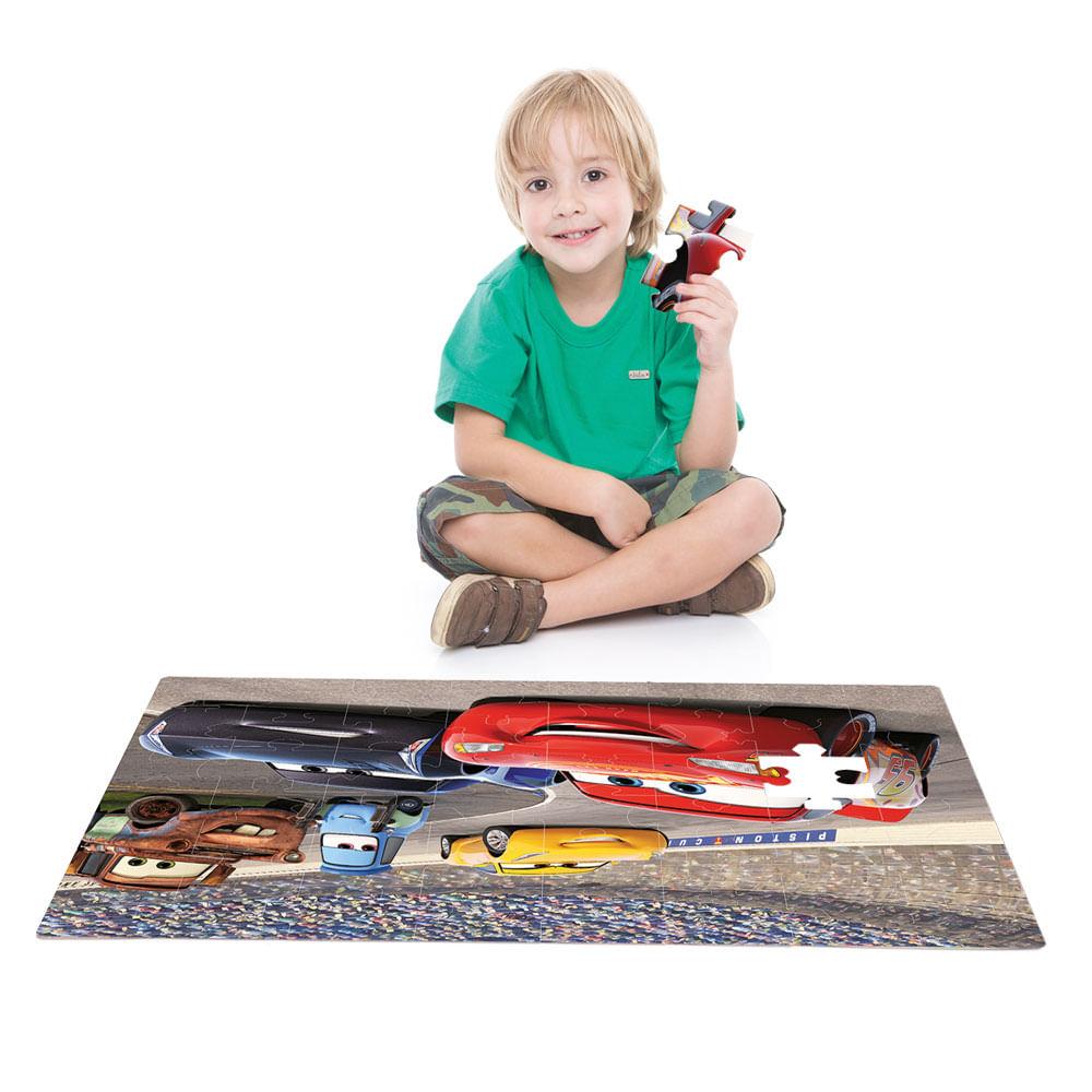 Quebra-Cabeça Grandão - 48 Peças - Disney - Cars 3 - Toyster