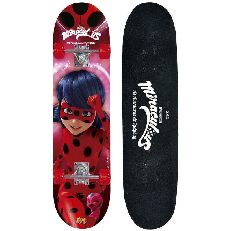 Skate com Acessórios de Segurança - Miraculous - Ladybug - Fun - PBKIDS 024ebe45b3c
