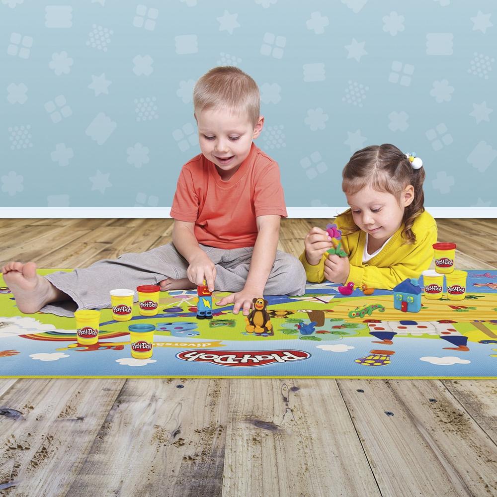 Tapete de Atividades - Emborrachado - Play-Doh - Fun