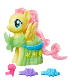 Mini-Figura-Fashion---7-cm---My-Little-Pony---Clip-and-Style-Runway---Fluttershy---Hasbro