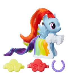 Mini-Figura-Fashion---7-cm---My-Little-Pony---Clip-and-Style-Runway---Rainbow-Dash---Hasbro