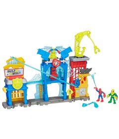 Playset---Super-Hero-Adventures---Spider-Man-Web-Quarters---Playskool-Heroes-Marvel---Hasbro